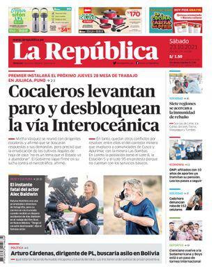 Edición Impresa - La Republica | Lima - Sabado 23 de Octubre del 2021