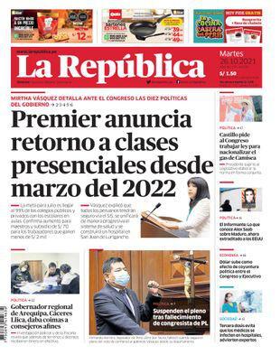 Edición Impresa - La Republica | Lima - Martes 26 de Octubre del 2021