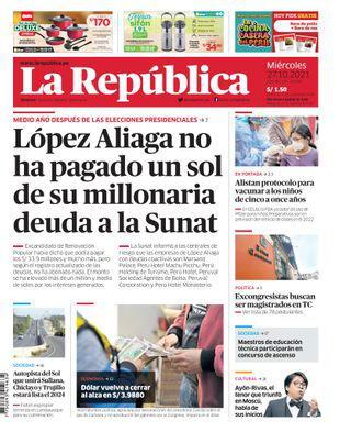 Edición Impresa - La Republica | Lima - Miercoles 27 de Octubre del 2021